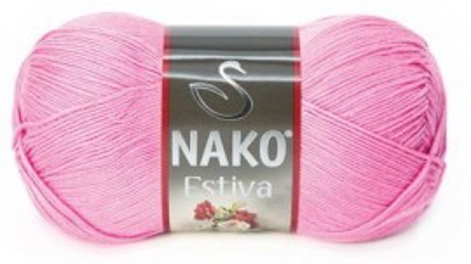Poze Fir de tricotat sau crosetat - Fire amestec Bumbac + Bambus NAKO ESTIVA ROZ 6668