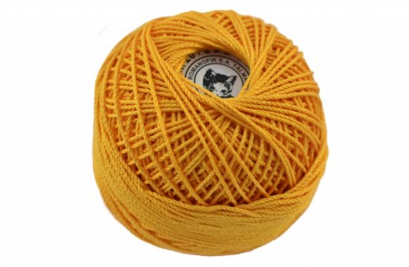 Poze Fir de tricotat sau crosetat - Fire Bumbac 100% ANGELICA ROMANOFIR BOBINA GALBEN 1313