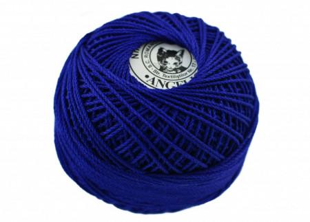 Poze Fir de tricotat sau crosetat - Fire Bumbac 100% ANGELICA ROMANOFIR BOBINA ALBASTRU 1242