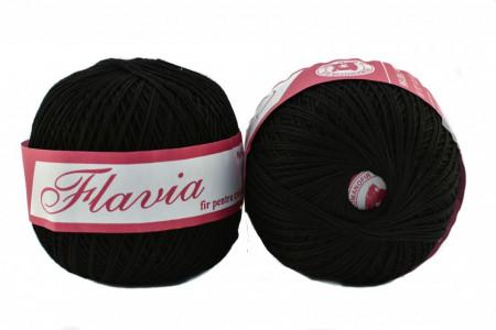 Poze Fir de tricotat sau crosetat - Fire Bumbac 100% FLAVIA ROMANOFIR BOBINA NEGRU 1201