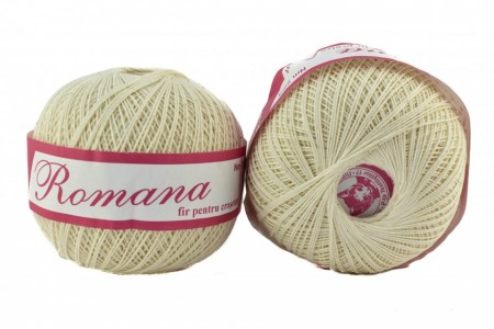 Poze Fir de tricotat sau crosetat - Fire Bumbac 100% ROMANA - ROMANOFIR BOBINA CREAM 1203