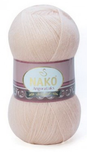 Poze Fir de tricotat sau crosetat - Fire tip mohair acril NAKO ANGORA LUKS BEJ 2250