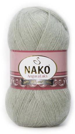 Poze Fir de tricotat sau crosetat - Fire tip mohair acril NAKO ANGORA LUKS GRI 23266