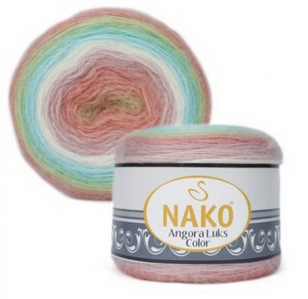 Poze Fir de tricotat sau crosetat - Fire tip mohair acril NAKO ANGORA LUKS COLOR 81919