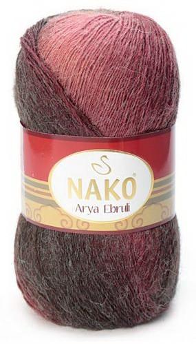 Poze Fir de tricotat sau crosetat - Fire tip mohair acril NAKO ARYA EBRULI DEGRADE 86405