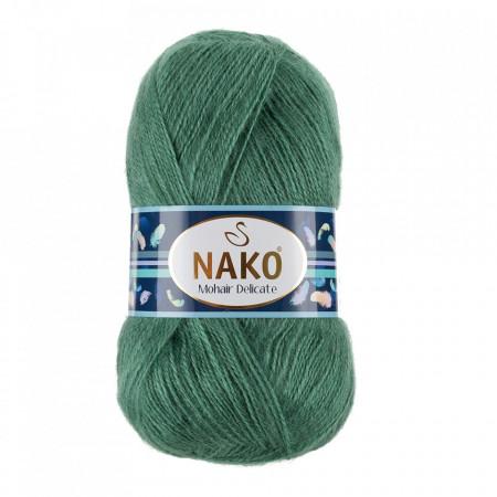 Poze Fir de tricotat sau crosetat - Fire tip mohair acril NAKO MOHAIR DELICATE - VERDE COD 2271