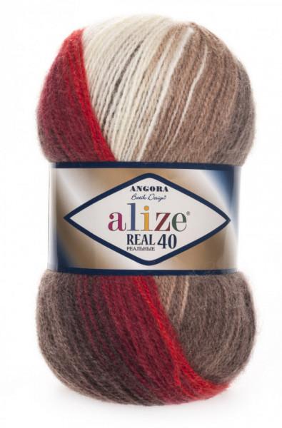 Poze Fir de tricotat sau crosetat - Fire tip mohair din acril Alize Angora Real 40 Batik degrade 4574