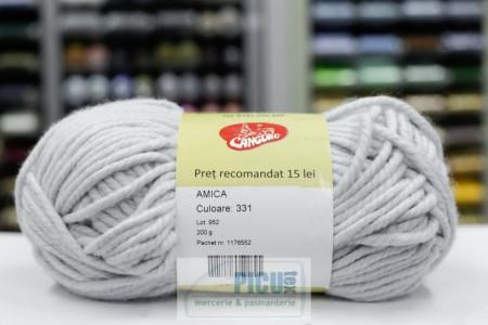 Poze Fir de tricotat sau crosetat - Fire tip mohair din acril AMICA GRI - 331