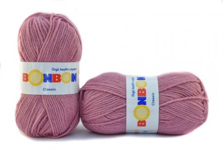 Poze Fir de tricotat sau crosetat - Fire tip mohair din acril BONBON CLASIC ROZ 98224