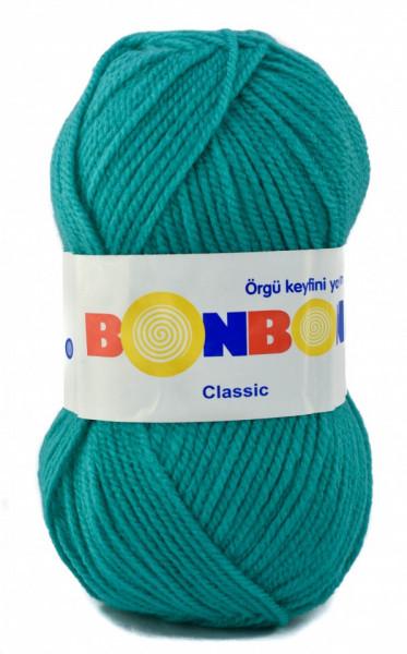 Poze Fir de tricotat sau crosetat - Fire tip mohair din acril BONBON CLASIC TURQUAZ 98394
