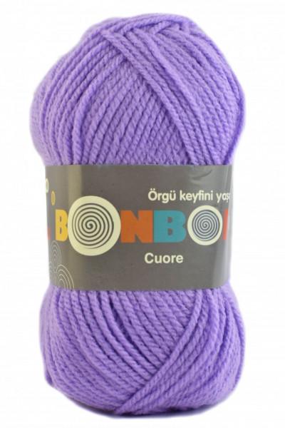 Poze Fir de tricotat sau crosetat - Fire tip mohair din acril BONBON CUORE - MOV - 98205