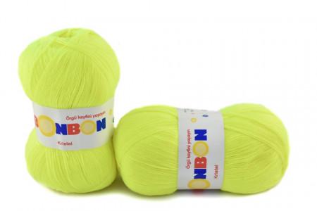 Poze Fir de tricotat sau crosetat - Fire tip mohair din acril BONBON KRISTAL FLUO 98397