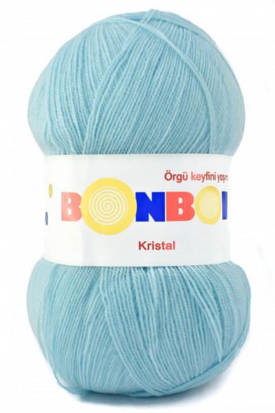 Poze Fir de tricotat sau crosetat - Fire tip mohair din acril BONBON KRISTAL BLEU 98694