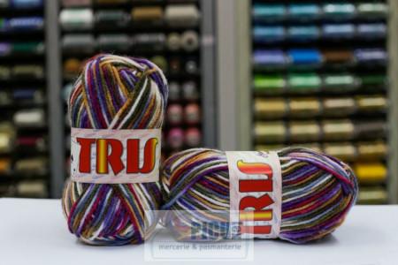Poze Fir de tricotat sau crosetat - Fire tip mohair din acril CANGURO - TRIS IMPRIMAT DEGRADE 359