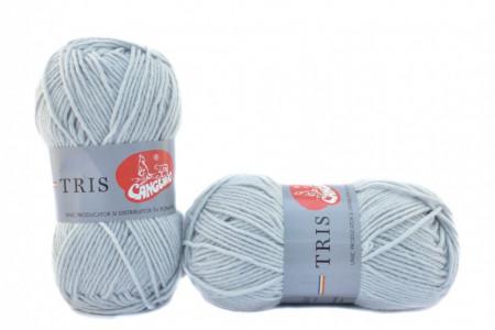 Poze Fir de tricotat sau crosetat - Fire tip mohair din acril CANGURO - TRIS GRI 331