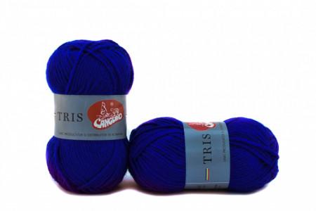 Poze Fir de tricotat sau crosetat - Fire tip mohair din acril CANGURO - TRIS ALBASTRU 338