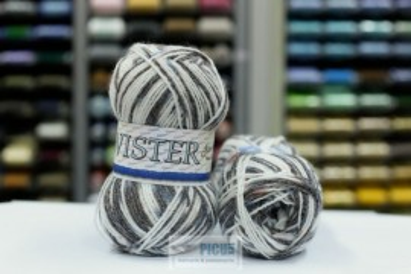 Poze Fir de tricotat sau crosetat - Fire tip mohair din acril CANGURO - TWISTER IMPRIMAT DEGRADE 355