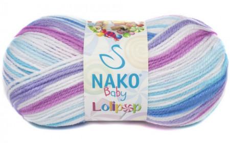 Poze Fir de tricotat sau crosetat - Fire tip mohair din acril degrade Nako Lolipop mix 80433