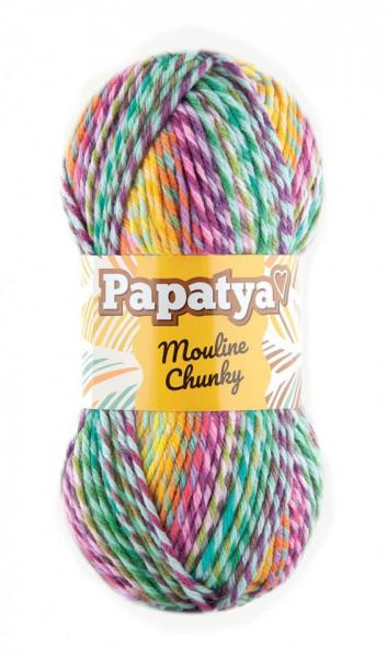Poze Fir de tricotat sau crosetat - Fire tip mohair din acril Kamgarn Papatya Mouline Chunky Degrade 5351