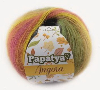 Poze Fir de tricotat sau crosetat - Fire tip mohair din acril Kamgarn Papatya Angora degrade 43