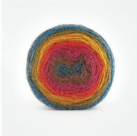 Poze Fir de tricotat sau crosetat - Fire tip mohair din acril Kamgarn Papatya CAKE SILVER degrade 304