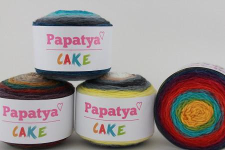 Poze Fir de tricotat sau crosetat - Fire tip mohair din acril Kamgarn Papatya CAKE degrade 200