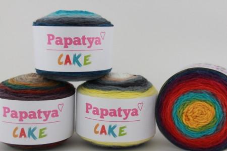 Poze Fir de tricotat sau crosetat - Fire tip mohair din acril Kamgarn Papatya CAKE degrade 208