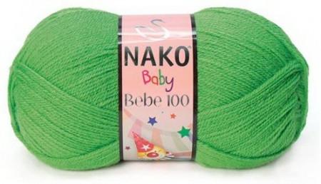 Poze Fir de tricotat sau crosetat - Fire tip mohair din acril Nako Baby 100 VERDE 3421