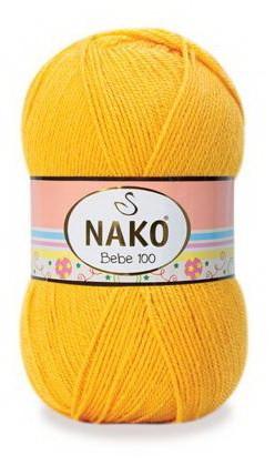Poze Fir de tricotat sau crosetat - Fire tip mohair din acril NAKO BABY - BEBE 100 galben 184