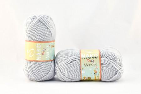 Poze Fir de tricotat sau crosetat - Fire tip mohair din acril Nako Baby MARVEL GRI 10020