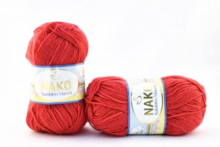 Poze Fir de tricotat sau crosetat - Fire tip mohair din acril Nako Baby MARVEL ROSU 11013