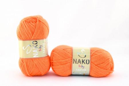 Poze Fir de tricotat sau crosetat - Fire tip mohair din acril Nako Baby MARVEL PORTOCALIU (FLUO) 4566