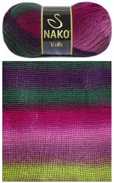 Poze Fir de tricotat sau crosetat - Fire tip mohair din acril premium Nako VALS DEGRADE 85794