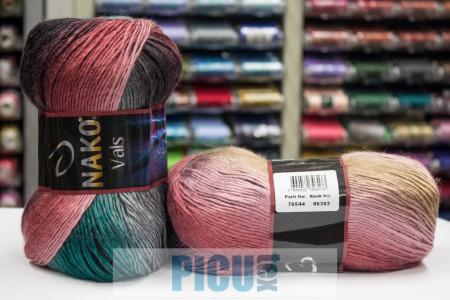 Poze Fir de tricotat sau crosetat - Fire tip mohair din acril premium Nako VALS DEGRADE 86383