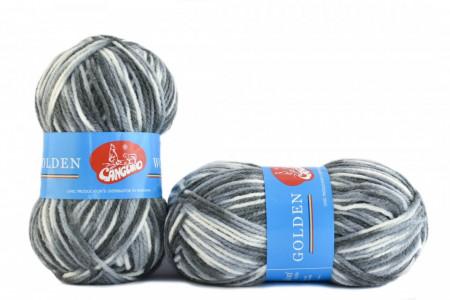 Poze Fir de tricotat sau crosetat - Fire tip mohair din acril si lana GOLDEN WOOL IMPRIMAT - 358