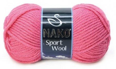 Poze Fir de tricotat sau crosetat - Fire tip mohair din acril si lana Nako Sport Wool roz 1174