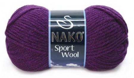 Poze Fir de tricotat sau crosetat - Fire tip mohair din acril si lana Nako Sport Wool MOV 3260