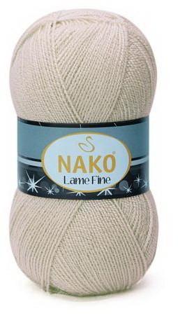 Poze Fir de tricotat sau crosetat - Fire tip mohair din acril si poliester metalic NAKO LAME FINE BEJ 6858