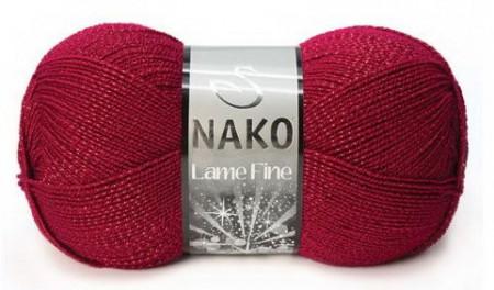 Poze Fir de tricotat sau crosetat - Fire tip mohair din acril si poliester metalic NAKO LAME FINE VISINIU 3630