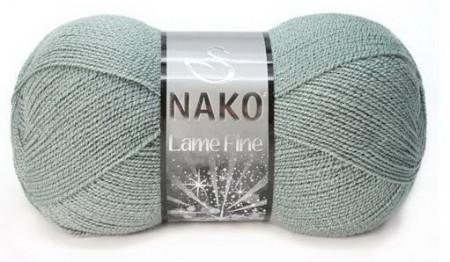 Poze Fir de tricotat sau crosetat - Fire tip mohair din acril si poliester metalic NAKO LAME FINE GRI 10937KG
