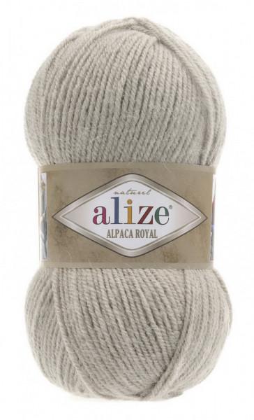 Poze Fir de tricotat sau crosetat - Fire tip mohair din alpaca 30%, lana 15%, acril 55% Alize Alpaca Royal BEJ 512