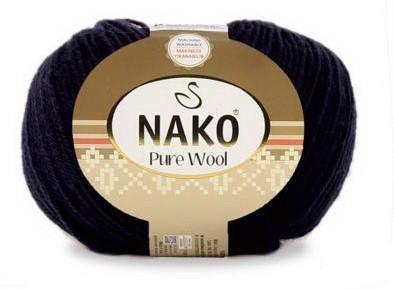 Poze Fir de tricotat sau crosetat - Fire tip mohair din lana 100% Nako PURE WOOL NEGRU 217