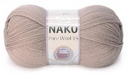 Poze Fir de tricotat sau crosetat - Fire tip mohair din lana 100% Nako PURE WOOL 3,5 BEJ 257