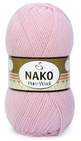 Poze Fir de tricotat sau crosetat - Fire tip mohair din lana 100% Nako PURE WOOL ROZ 10639