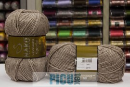 Poze Fir de tricotat sau crosetat - Fire tip mohair din lana 50% si acril 50% Nako Superlambs Special BEJ 23131