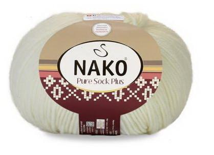 Poze Fir de tricotat sau crosetat - Fire tip mohair din lana si polyamida Nako PURE SOCK PLUS CREAM 2378