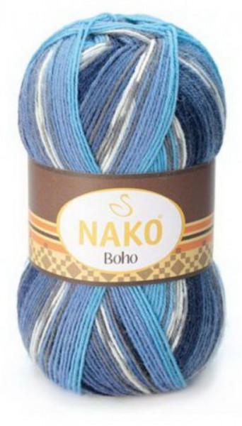 Poze Fir de tricotat sau crosetat - Fire tip mohair din lana si polyamida Nako BOHO mix 81262