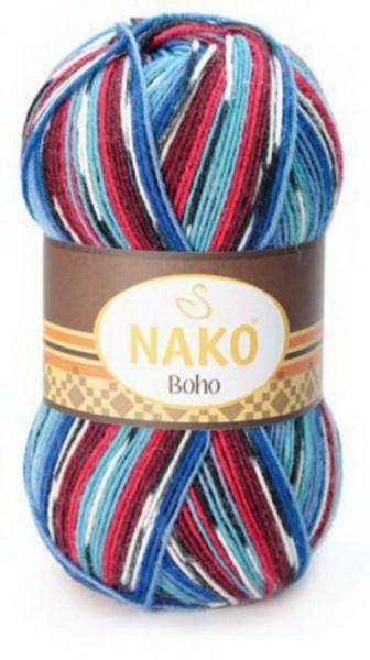 Poze Fir de tricotat sau crosetat - Fire tip mohair din lana si polyamida Nako BOHO mix 81254