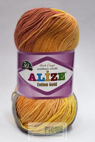 Poze Fir de tricotat sau crosetat - Fir ALIZE COTTON GOLD BATIK - DEGRADE 5508