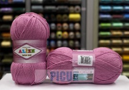 Poze Fir de tricotat sau crosetat - Fir ALIZE COTTON GOLD MOV 98